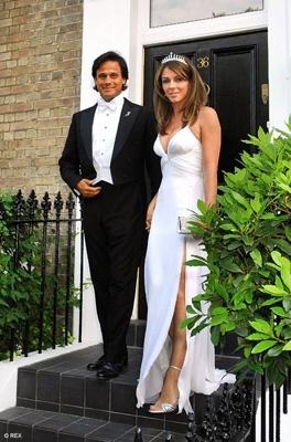 Elizabeth Hurley & Arun Nayar