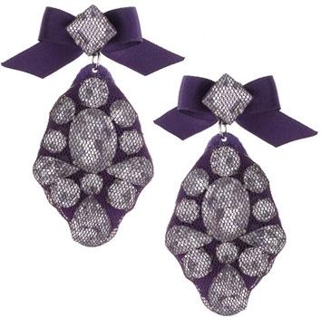 Talullah Tu Lace-Covered Jewel Earrings