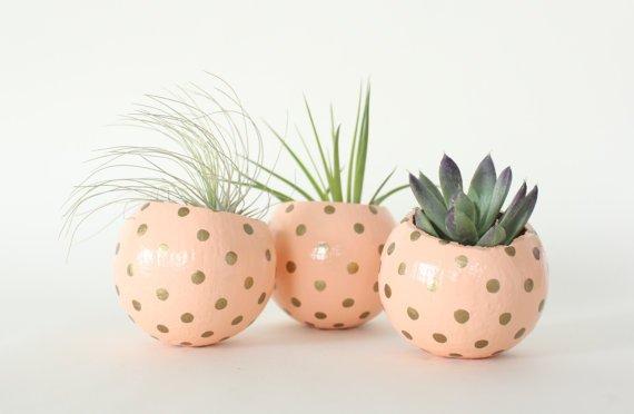 Peach & Gold Planters
