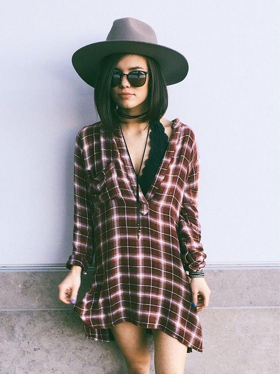 clothing, plaid, pattern, design, hat,