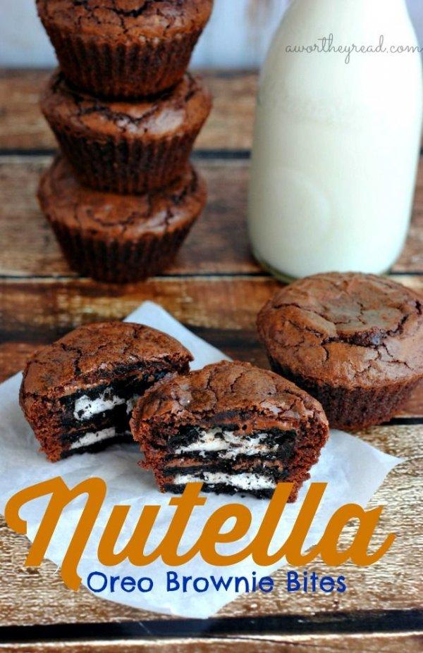 Nutella-Oreo-brownie-bites