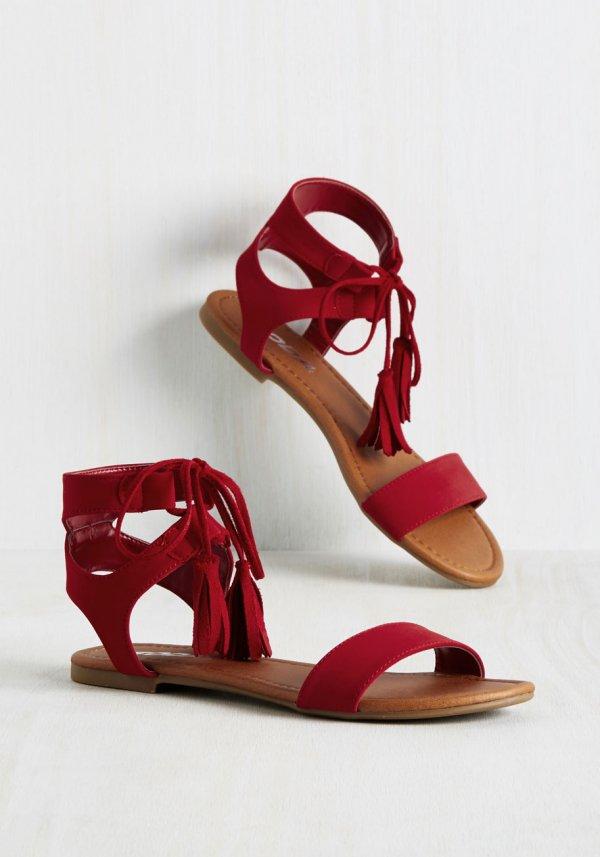 Sand Tassel Competition Sandal