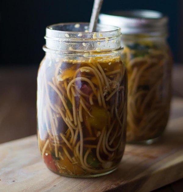 Healthy Sesame Ginger Noodle Cups