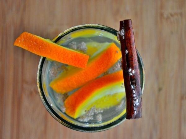 Orange, Chia and Cinnamon Water