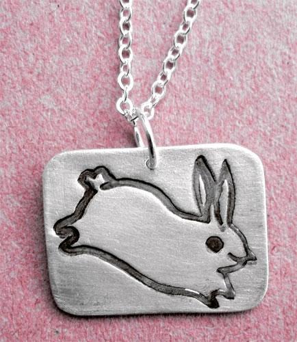 Susie Ghahremani Silver Bunny Necklace