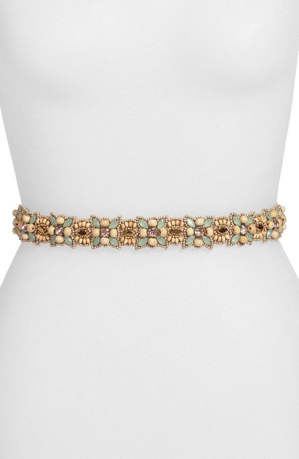 Women's Glint 'Malaga' Beaded Stretch Belt,
