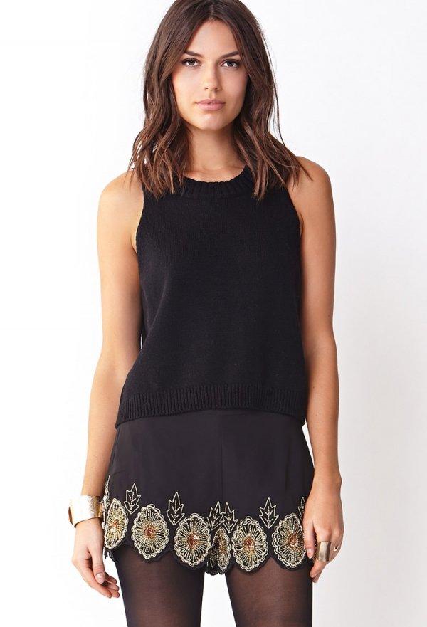 Striking Embellished Shorts