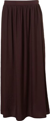 Topshop Maroon Maxi Skirt