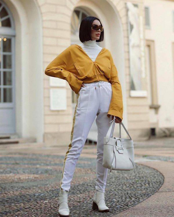 white, yellow, fashion model, fashion, outerwear,