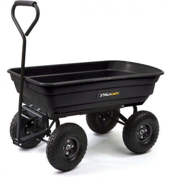 Poly Garden Dump Cart with Steel Frame