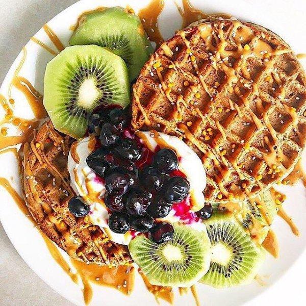 dish, food, meal, waffle, breakfast,