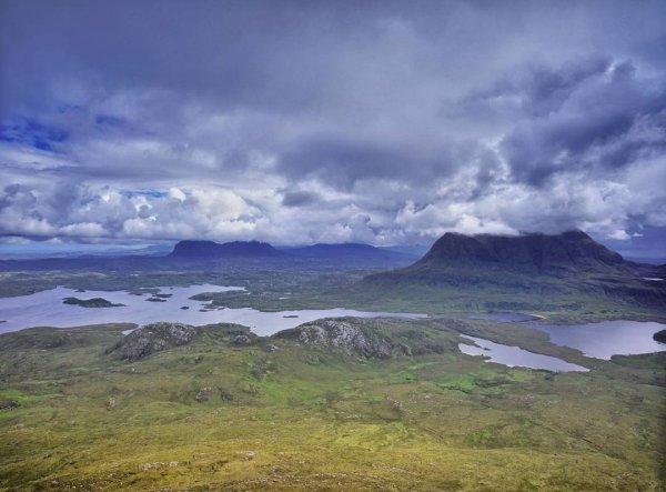 highland, sky, loch, headland, promontory,