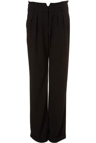 Topshop Paper Bag Wide-Leg Trousers