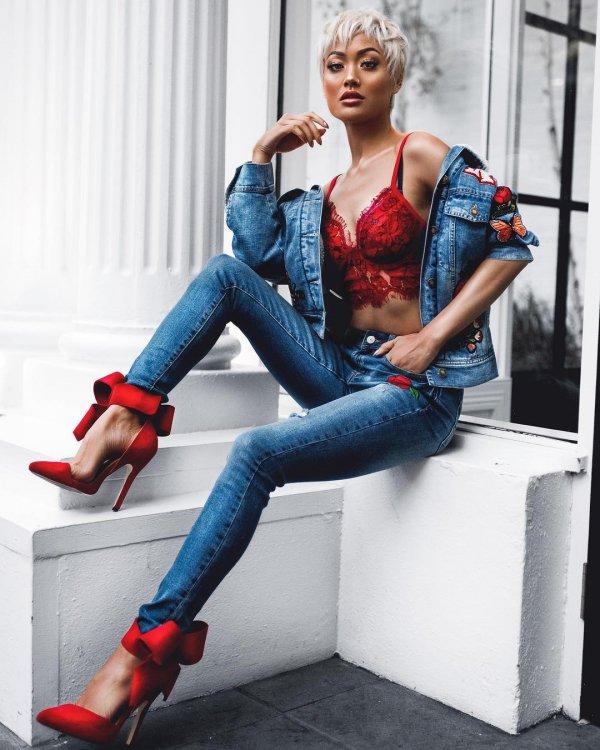 blue, footwear, jeans, denim, fashion model,
