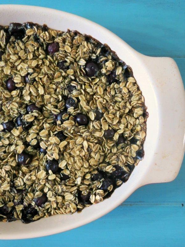 Myer Lemon Blueberry Baked Oatmeal