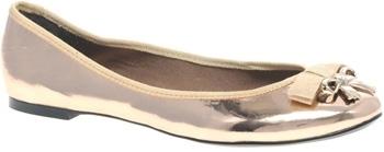 Asos Lovely Bow Trim Metallic Shoes