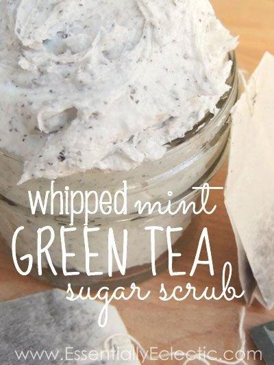 Whipped Mint Green Tea Sugar Scrub