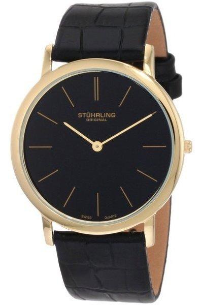 Men's Classic Ascot Watch, Black Leather