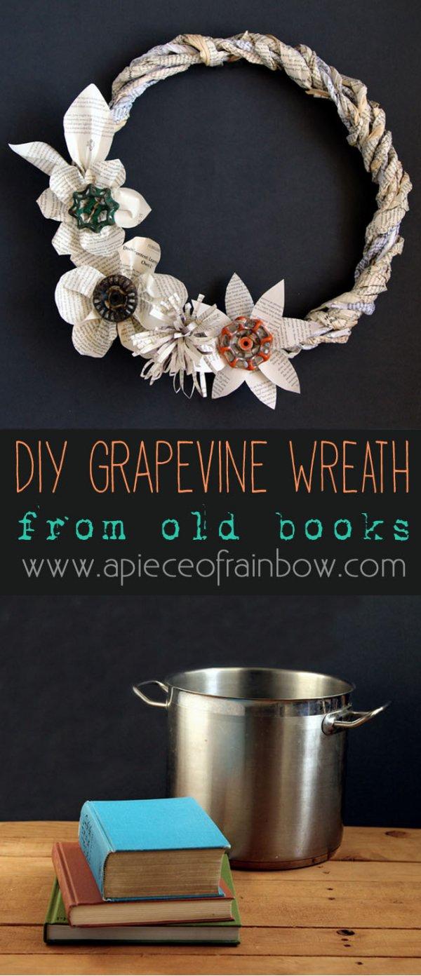 "Vintage-Inspired ""Grape Vine"" Wreath"