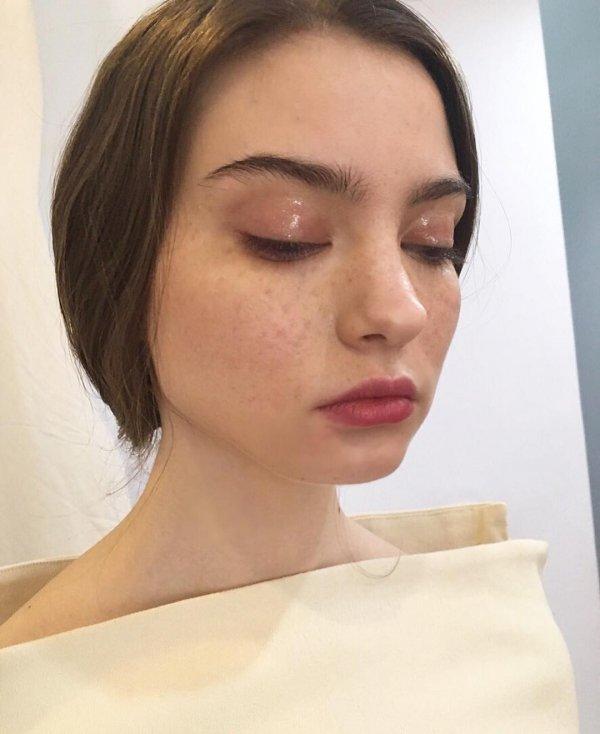Her Dewy Eyes & Fake Freckles