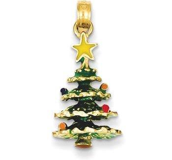 14k Gold Tree Pendant