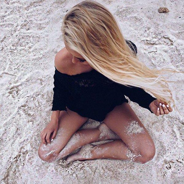 clothing, sea, blond, beach, sand,