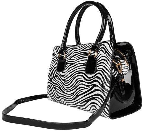 Zebra Print Shoulder Handbag
