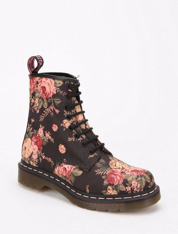 Classic Doc Marten Floral Boots