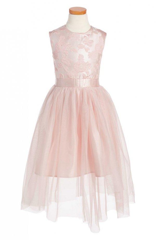 pink,clothing,dress,day dress,child,