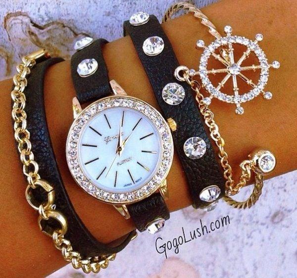Wrap around Watch with a Single Bracelet