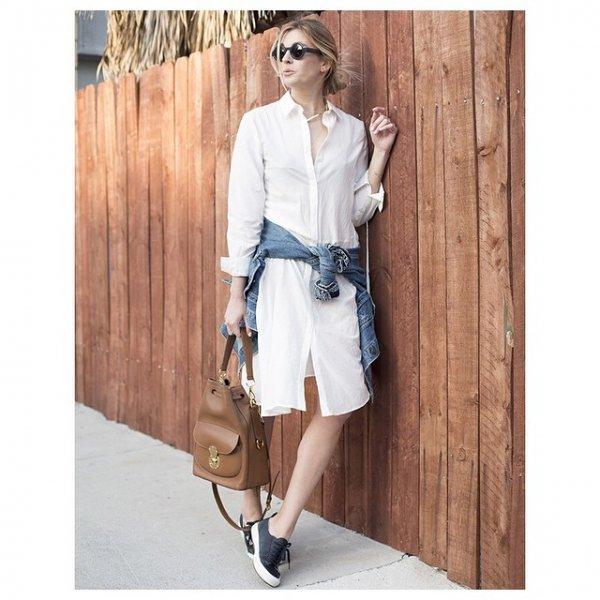 A White Shirt Dress is so Versatile!