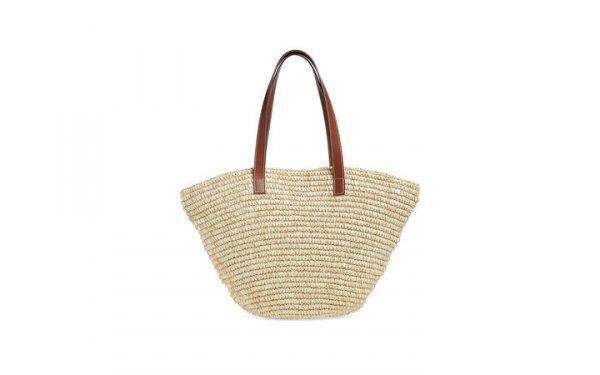 handbag, bag, brown, straw, shoulder bag,