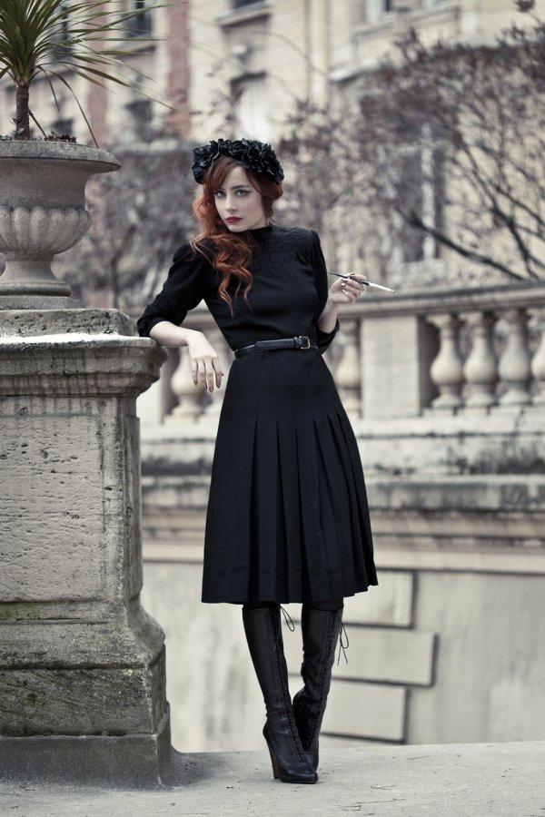 black,white,clothing,black and white,dress,