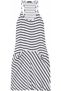 Theory Alesandra Striped Silk Dress