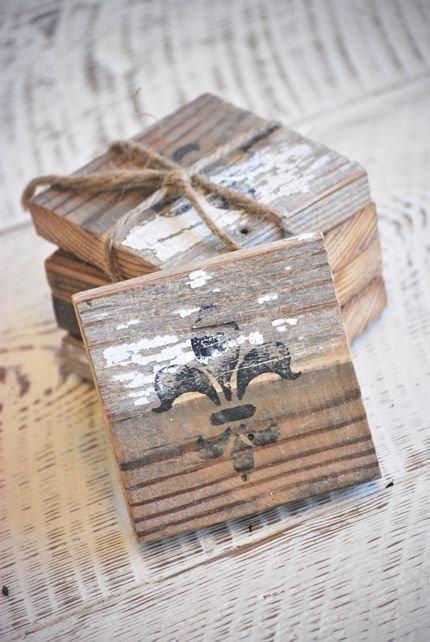 Old Wood Coasters