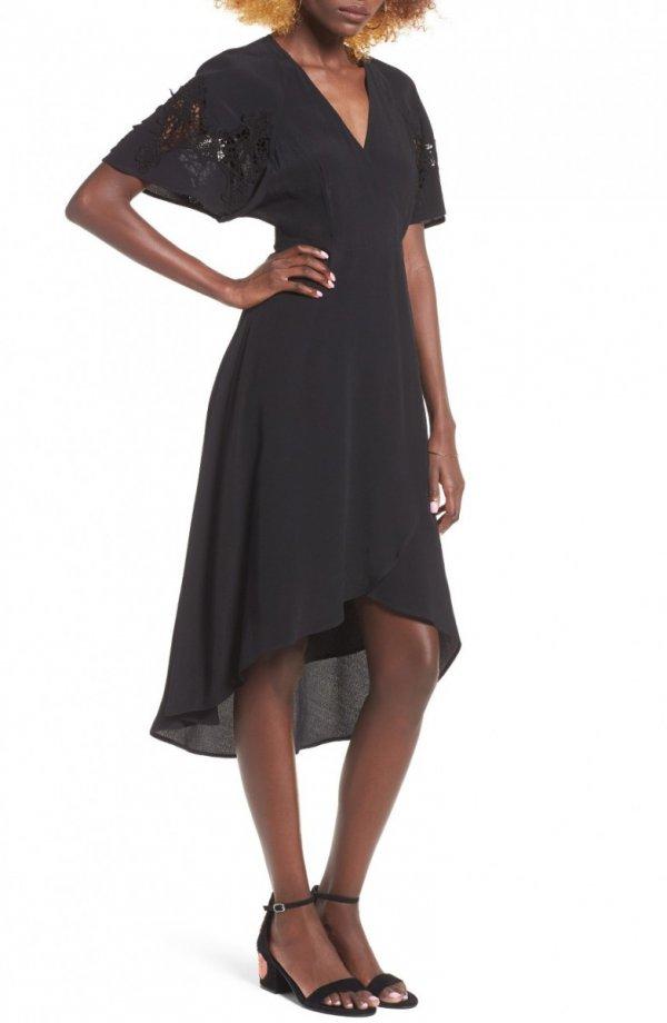 dress, clothing, black, day dress, little black dress,