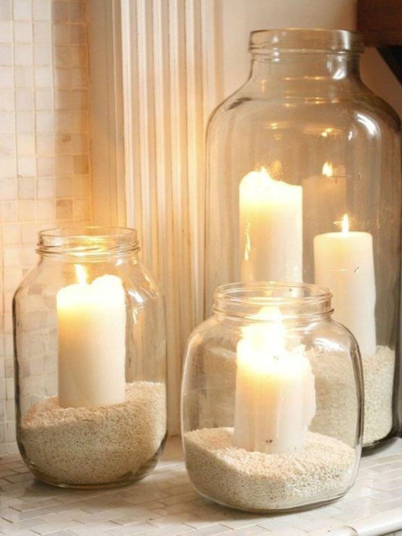 candle,lighting,mason jar,flameless candle,decor,
