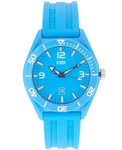 Storm Sky Blue Rubber Strap Watch