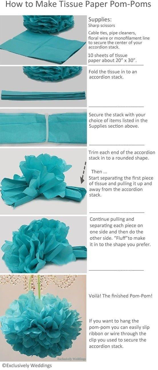 DIY Tissue Paper Pom-pom