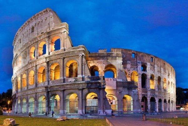 Colosseum, landmark, historic site, building, ancient roman architecture,