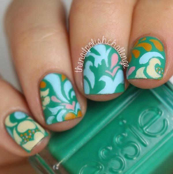 color, nail, finger, green, blue,