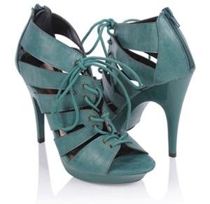 Distressed Leatherette Cutout Heels