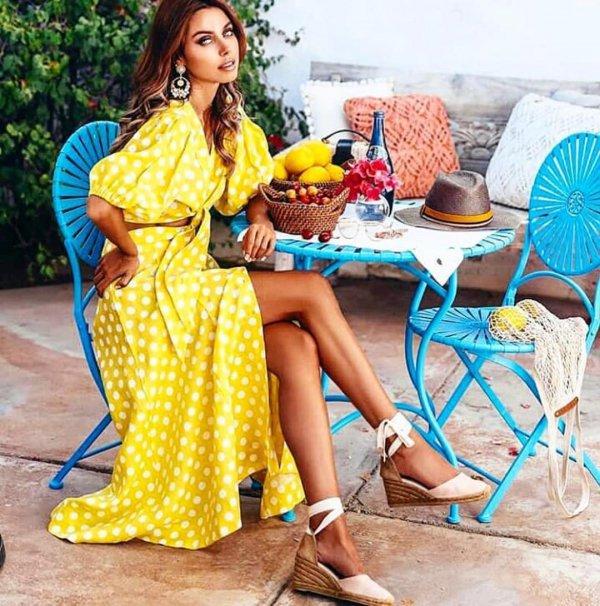 yellow, fashion model, fashion, summer, pattern,