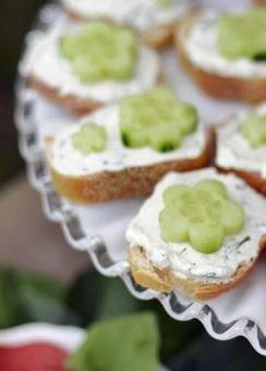 Simple Open Faced Tea Sandwiches