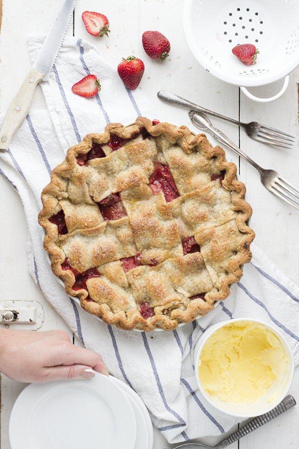Strawberry PB&J Pie