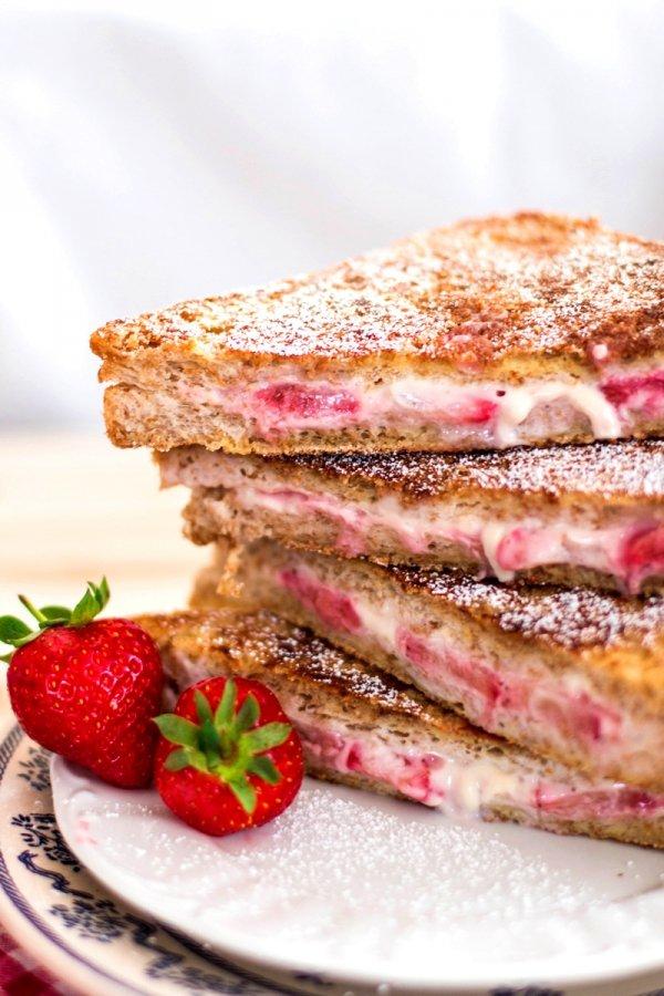 Berry Cream Cheese Stuffed French Toast