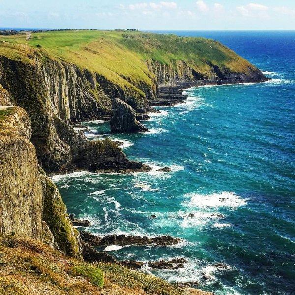 coast, coastal and oceanic landforms, cliff, headland, sea,