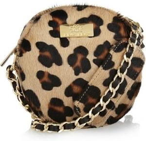 Meli Melo Mini Bon Bon Leopard Print Calf Hair Bag