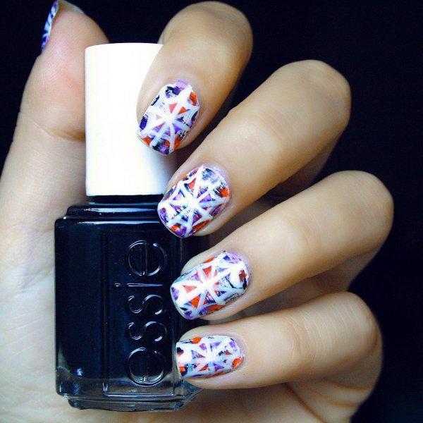 nail, finger, nail care, blue, nail polish,