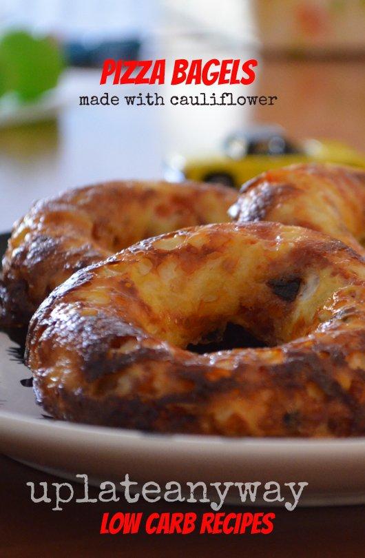 Cauliflower Pizza Bagels